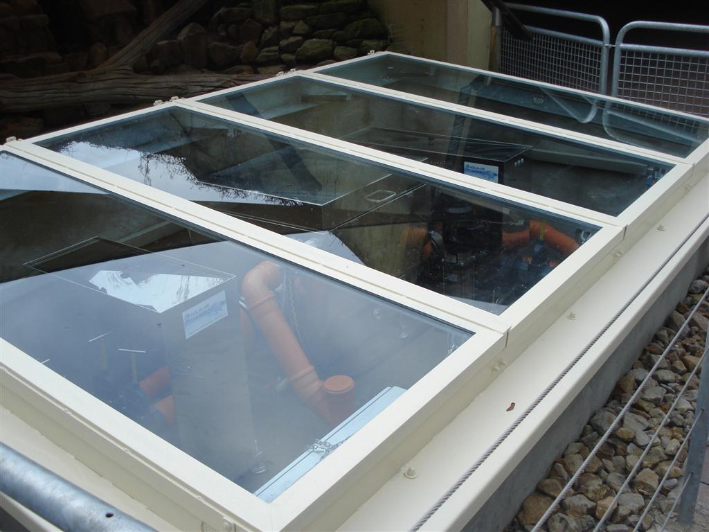 Allwetterzoo Münster - Filteranlage unter Glas